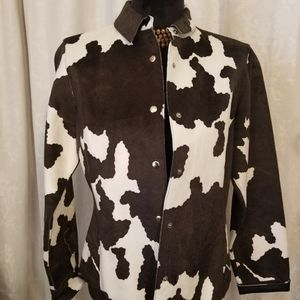 Copper Key Vegan Cow Print Jacket